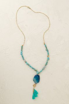 Anthropologie EU Turquoise Lagoon Necklace