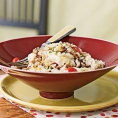 Risotto with Fresh Mozzarella, Grape Tomatoes, and Basil | MyRecipes.com