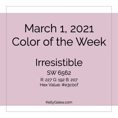 Your Color of the Week and energy reading for the week of March 1, 2021. This week's energy is all about the ways you can best be of service — as only you can.