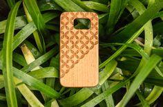 Circles Samsung Galaxy S6/S6 edge case Wood Galaxy by Woodboow
