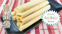 I believe these Chinese Crunchy Egg Rolls are everyone's favorite snack. Homemade Egg Rolls, Homemade Recipe, Chinese Egg Rolls, Chinese New Year Cookies, Egg Roll Recipes, No Bake Desserts, Baking Desserts, Roll Cookies, Bread And Pastries
