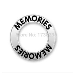 2015 top sale alloy antique silver memories message ring charm