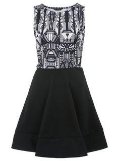 Deco Print Skater Dress