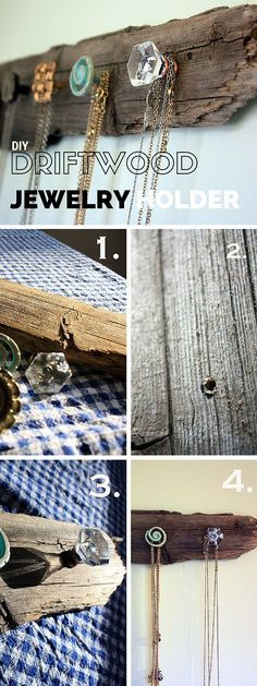 Coat and Jewelry Hangers: Add a wonderful wall decor accent in a rustic style to your home with this DIY coat and jewelry hanger!