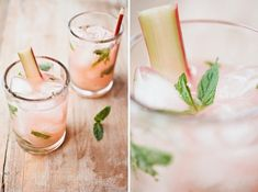 Rhubarb Mojito, recipe via Not Without Salt.