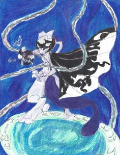 The Masked Mewtwo (updated design) by BreezeAria.deviantart.com on @DeviantArt