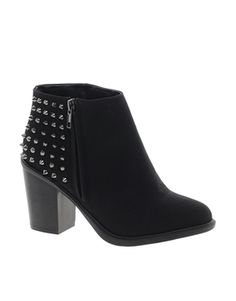 My boots have arrived at UConn! I can't wait to pick them up and wear them!!!!!New Look Extreme Studded Back Ankle Boots from Asos!