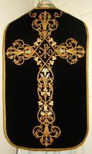 Black Velvet Roman Chasuble Antique 4792