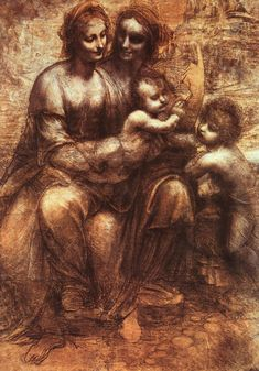 """Leonardo's """"The Virgin and St. Anne with John the Baptist"""" - one of the most moving images you will ever see @ National Gallery in London"""