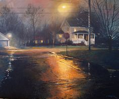 December's Foggy Freeze by Christopher Leeper Oil ~ 18 x 24