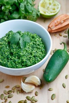 Swiss Chard Pesto - I can't wait to try this over pasta or as a chip dip...