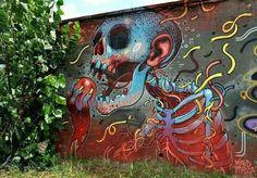 Street art artist Aryz - - Check more @ http://www.Streetart.nl or @streetart.nl #streetart #Aryz