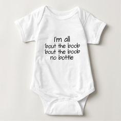 Breast Feeding Funny Baby Shirt #breastfeeding #breastfed #baby #babies #pregnancy #babyhumor #onsie #cute #clothes