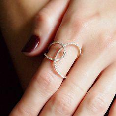 Loopsided Asymmetrical Diamond Ring - Plukka - Shop Fine Jewelry Online