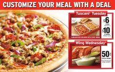 Customize Your Meal With A Deal