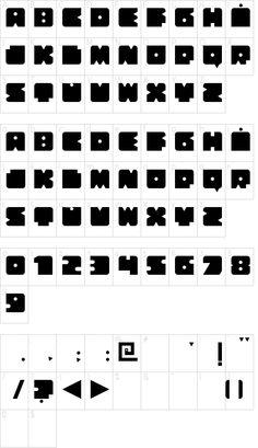 Bloquer Modular, Free font