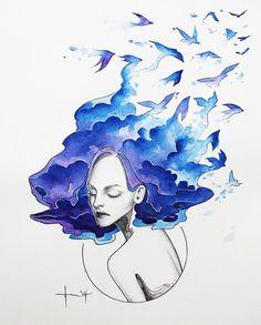 "PoetryNow: Monika Umba's  unconventional animation of ""Bluebi..."