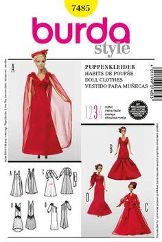 patrones de vestidos de muñecas - Buscar con Google