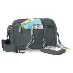 New Black Slim Smartphone Organizer Purse Crossbody Bag