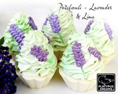 Patchouli, Lavender and Lime Cupcake Soap