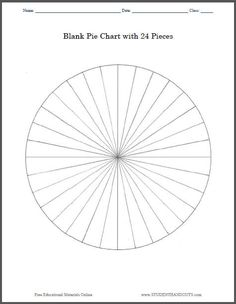 Blank Pie Chart with 24 Pieces: Print worksheet or use on smartboard.