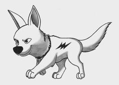Love the movie bolt disney Cartoon Sketches, Disney Sketches, Disney Drawings, Art Sketches, Amazing Drawings, Colorful Drawings, Cute Drawings, Animal Drawings, Disney Tattoos