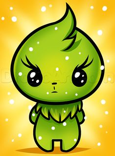 How To Draw Kawaii Grinch by Dawn Cute Animal Drawings Kawaii, Cute Disney Drawings, Cute Easy Drawings, Kawaii Drawings, Grinch Drawing, Xmas Drawing, Christmas Drawing, Stickers Kawaii, Cute Stickers