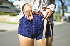 JoellenLove's knitted shorts - lovely!