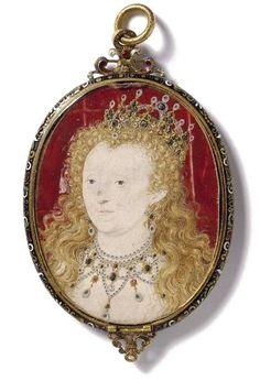 Queen Elizabeth, c.1590-1603.  Miniature by Nicholas Hilliard.  © Victoria & Albert Museum.