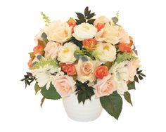 Vis romantic - Aranjament cu flori artificiale si plante naturale conservate