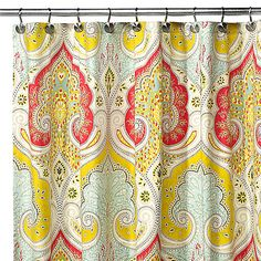 Echo Design™ Jaipur Fabric Shower Curtain - use sections of this to add length to linen curtains in the office - Buy at Bed, Bath, Beyond