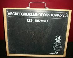 Vintage Pressman Kid's Carrying Case Chalkboard and Pegboard