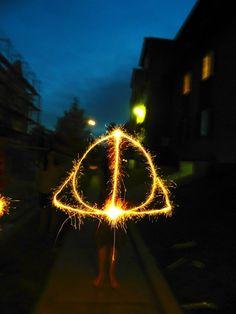 Harry Potter + sparklers = magic