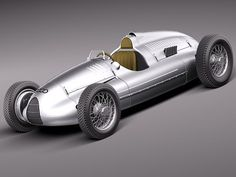 Auto Union type D 1938 Model Vintage Racing, Vintage Cars, Sport Cars, Race Cars, 3d Racing, Automobile, Auto Union, Classic Mercedes, Premium Cars