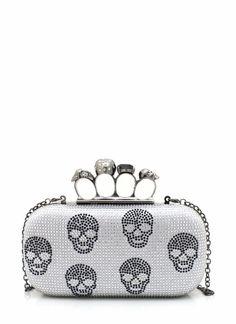 embellished skull clutch