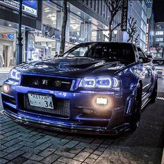 Japanese Sports Cars, Japanese Cars, Nissan Gtr 34, Street Racing Cars, Auto Racing, Go Kart Frame, Nissan Gtr Skyline, Classy Cars, Jeep Cars