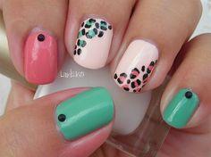 Easy and Girly Leopard by Linda165 - Nail Art Gallery nailartgallery.nailsmag.com by Nails Magazine www.nailsmag.com #nailart