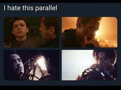 """SPOILERS Side note: when Peter called Stark """"Tony"""" right after he died, I so… - Marvel movies Marvel Comics, Marvel Avengers, Memes Marvel, Bd Comics, Dc Memes, Avengers Memes, Marvel Funny, Nerd Memes, Spiderman Marvel"""