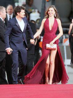 Miranda Kerr and Orlando Bloom at the Golden Globes 2013