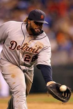 Tigers first baseman Prince Fielder fields the ball during the Tigers' 4-3 win Wednesday in Kansas City, Mo.