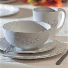 American Atelier Bianca Laurel 16-piece Dinnerware Set - Overstock™ Shopping - Great Deals on American Atelier Casual Dinnerware