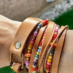 Beach bracelet leather fringe w turquoise Cowrie shell Gypsy Bracelet, Hippie Bracelets, Beach Bracelets, Shell Bracelet, Strand Bracelet, Bracelet Set, Leather Drawstring Bags, Mothers Bracelet, Leather Fringe