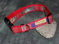Adjustable Dog Collar from Recycled Fat Tire Beer Labels by squigglechick, $18.00