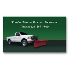 Shop Snow Plow Truck Service Business Card created by Lasting__Impressions. Shoveling Snow, Snow Plow, Ford Trucks, Business Cards, Things To Come, Lipsense Business Cards, Ford, Name Cards, Visit Cards