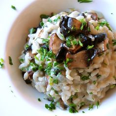 Simple #Mushroom #Risotto 15 Meat Free But Flavor #Packed #Meals |  #Yummy #Recipes