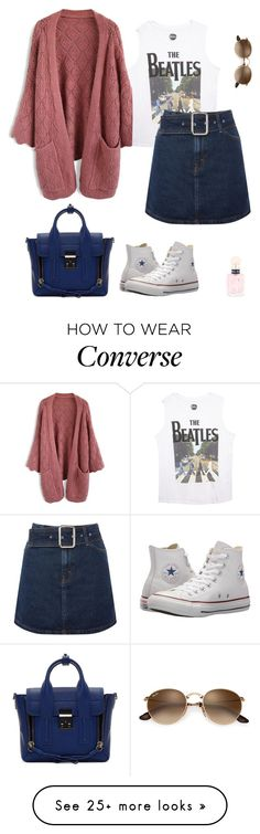 """""""Untitled #500"""" by micha-p on Polyvore featuring Chicwish, Wet Seal, Topshop, Converse, 3.1 Phillip Lim and Miu Miu"""