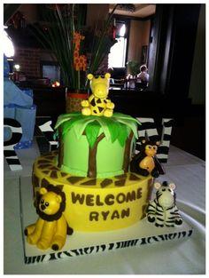 Jungle Theme Fondant Cake