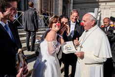 When he wasn't afraid to get a little bit silly. | The 19 Best Pope Francis Moments Of 2013