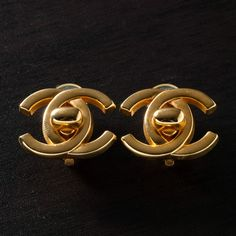 Chanel Coco Clip On Earrings In Gold Tone B