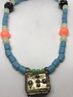 Lucky unique beautiful necklace anti evil eye beads old silver pendent from Ethiopia good energy good vibes I create every necklace one of a kind I find gold in a pile all over the world love travel to remote places and bring the special spirit of the places combination of cultures to